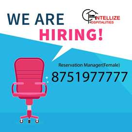 URGENT REQUIREMENT : - RESERVATION MANAGER.