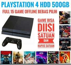 PS4 Fat 500GB BONUS 15 game Terbaik bebas pilih Terjangkau