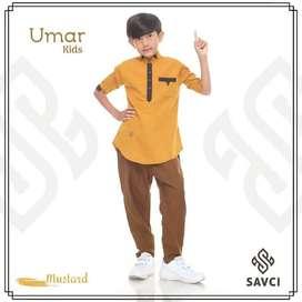 Baju Koko Anak Laki-laki Muslim Original Savci Umar Kids