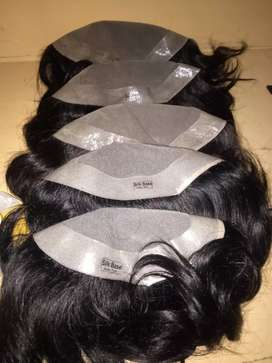 Hair patch silk base