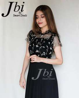 Jbi Black Embroidery New Frok