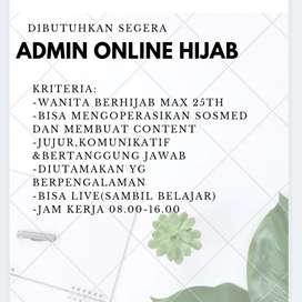 Dibutuhkan admin online hijab