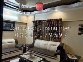 3 bed drawing dining leased flat at nazimabad 3 well furnished