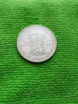 Koin Belanda Wilhelmina 2.5 Gulden