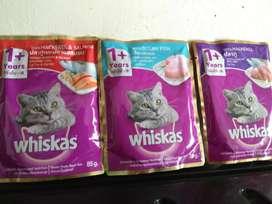 Wiskas sachet,wet food for cat