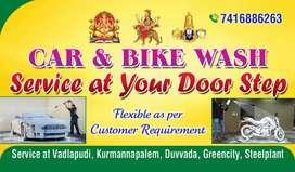 Doorstep car wash and bike wash