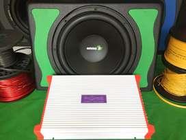 Paket Murmer Power/Subwofer/Box + Instalasi bisa pasang di tempat anda