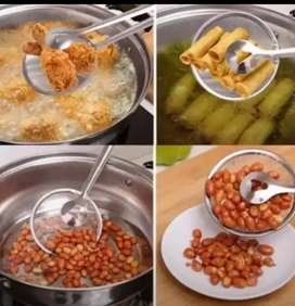 MULTIFUNCTIONAL 2 IN 1 FRY TOOL FILTER SPOON STRAINER WITH CLIP