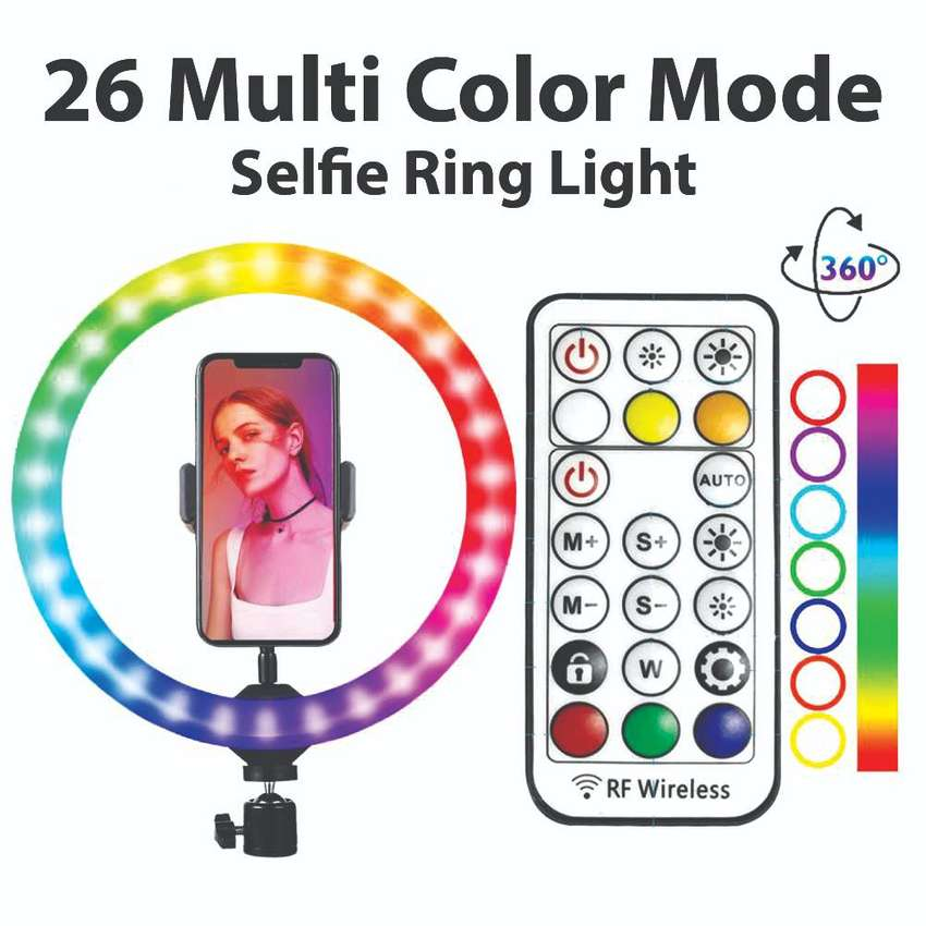 Ring Light 26 cm with 26 colors 0