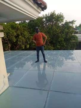 Spesialis pemasangan kanopi atap kaca anti pecah.