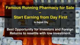 Famous runing Pharmacy for sale - Start earing from day first