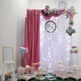 Kotak Akrilik + Dekorasi Backdrop Lamaran / Hantaran / Tunangan