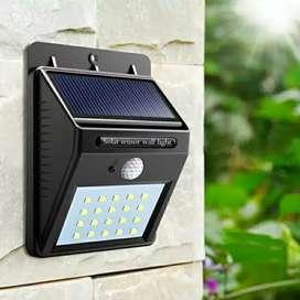 Lampu Taman Tenaga Surya System Sensor Dinding/Solar Cell/Panel 20 Led