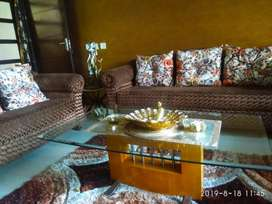 7seater sofa made of teak wood with centre table