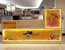 Booth makanan bahan kayu jati belanda uk.80x300cm ,kondisi sgt bagus