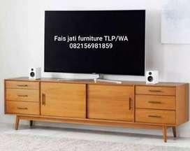 Meja tv retro jati minimalis