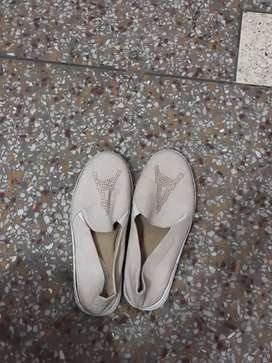 Cream shoes size 38