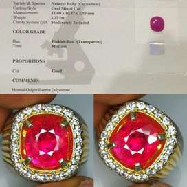 HQ natural ruby burma myanmar 3crt up fresh color