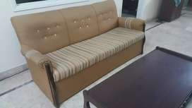 5 Seater Sofa's With Tables Pure Teak Wood