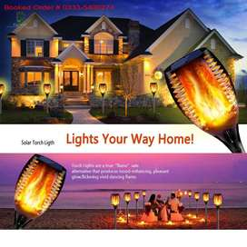 Solar Garden Flame Effect Rechargeable Led Light