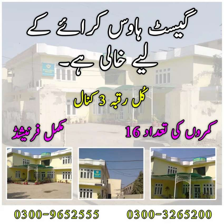 Fully furnished Guest house available for rent.