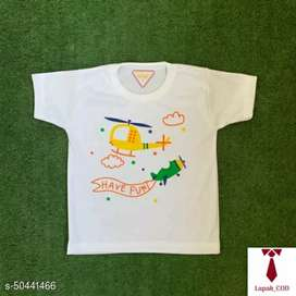 Kaos Oblong Bayi Anak  Print Transport Sunflower -White