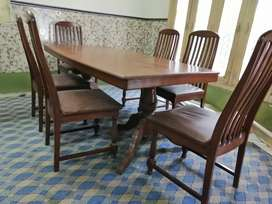 Heavy weight Dining table (Sheeshm) with 6 chairs for Sale