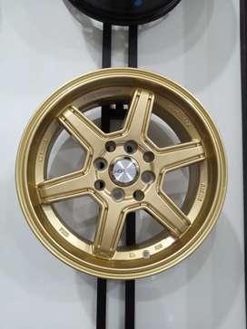 Velg mobil sirion Ring 15 HSR Minas Pcd 4x100 & 4x114,3 Gold