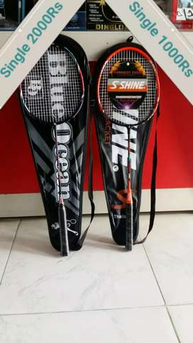 Badminton racket and net are avaliable home delivery