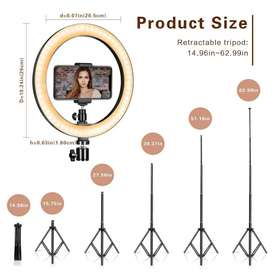 """10"""" LED 26CM RingLight With 7feet Tripod Stand Selfie Ring Light"""