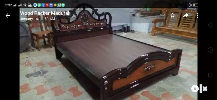 Brand New Fancy Teak Wood Cot For Sale
