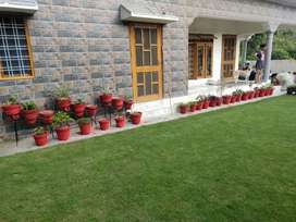 Newly built 5+ Bhk with lawn for sale.