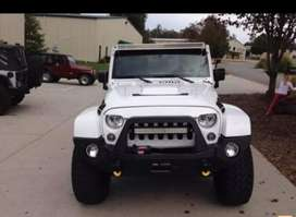 Modified white best colored jeep