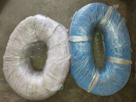 Packed wire roll 14/36 blue and white color and solder wire