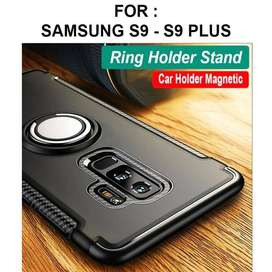 Ring armor case Samsung S9 - S9 Plus softcase casing cover iring stand