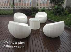 Sofa set with dinning