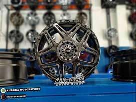 pelek racing HSR Konga ring 16 lebar 7 pcd 8X100-114,3 hyper black