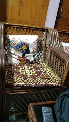 Cane sofa and dining set