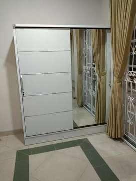 lemari sleding dua pintu minimalis U