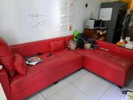 Sofa Sudut Bekas / Second Lokasi Tanah Baru Depok