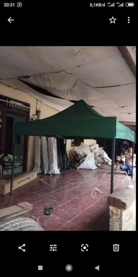 Tenda bazar lipat sarnafil piramid limas kerucut