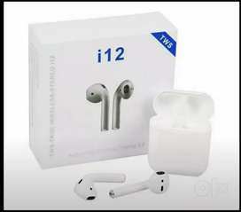 i12 TWS Bluetooth Earphones Touch Sensor with in Built Mic