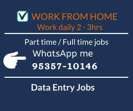 Work from home. Earn daily Rs.1000/-. Simple typing job.