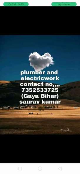plumber and electriceal  work all bihar