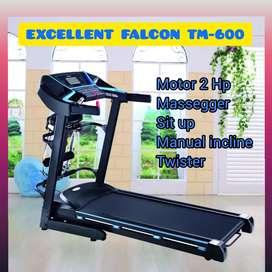treadmill elektrik 2HP mp3 mp4 excellent falcon TM-609