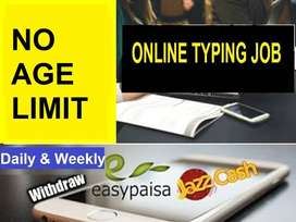 Students can also apply  for ONLINE TYPING JOB