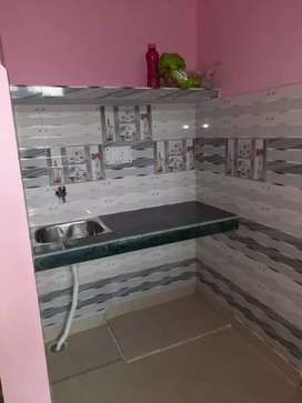 One room set with kitchen and bathroom