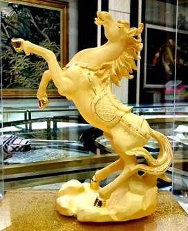LuvDee Patung Pajangan 24K Kuda sukses kado souvenir imlek