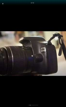 Canon 1200 d with 18 55 lens lush condition