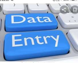 I need Data entry  job without investment